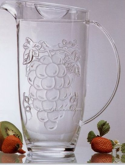 2 Qt. Pitcher With Embossed Grapes With Color Box