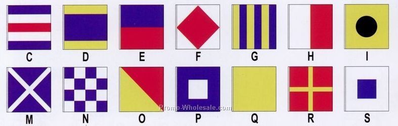 2'x2' Nautical International Code Of Signals - Complete Set