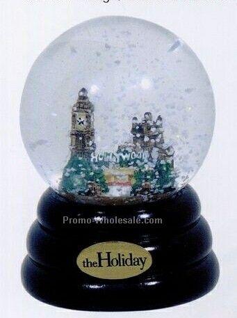 Animated Christmas Snow Globe