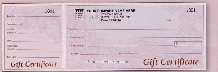 6 1 2x3 8 Harvest Prestige Collection Design Gift Certificate