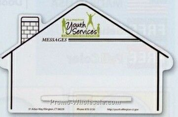 "6-7/8""x10-7/8"" Stock Memo Board - House"