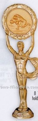 "8-1/2"" Plastic Casting W/ 2"" Medallion Insert - Male Figure"