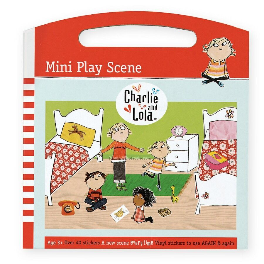 Charlie And Lola Mini Play Scene Sticker Set