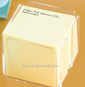 "Clear Acrylic Sticky Note Holder - 2-3/4"""