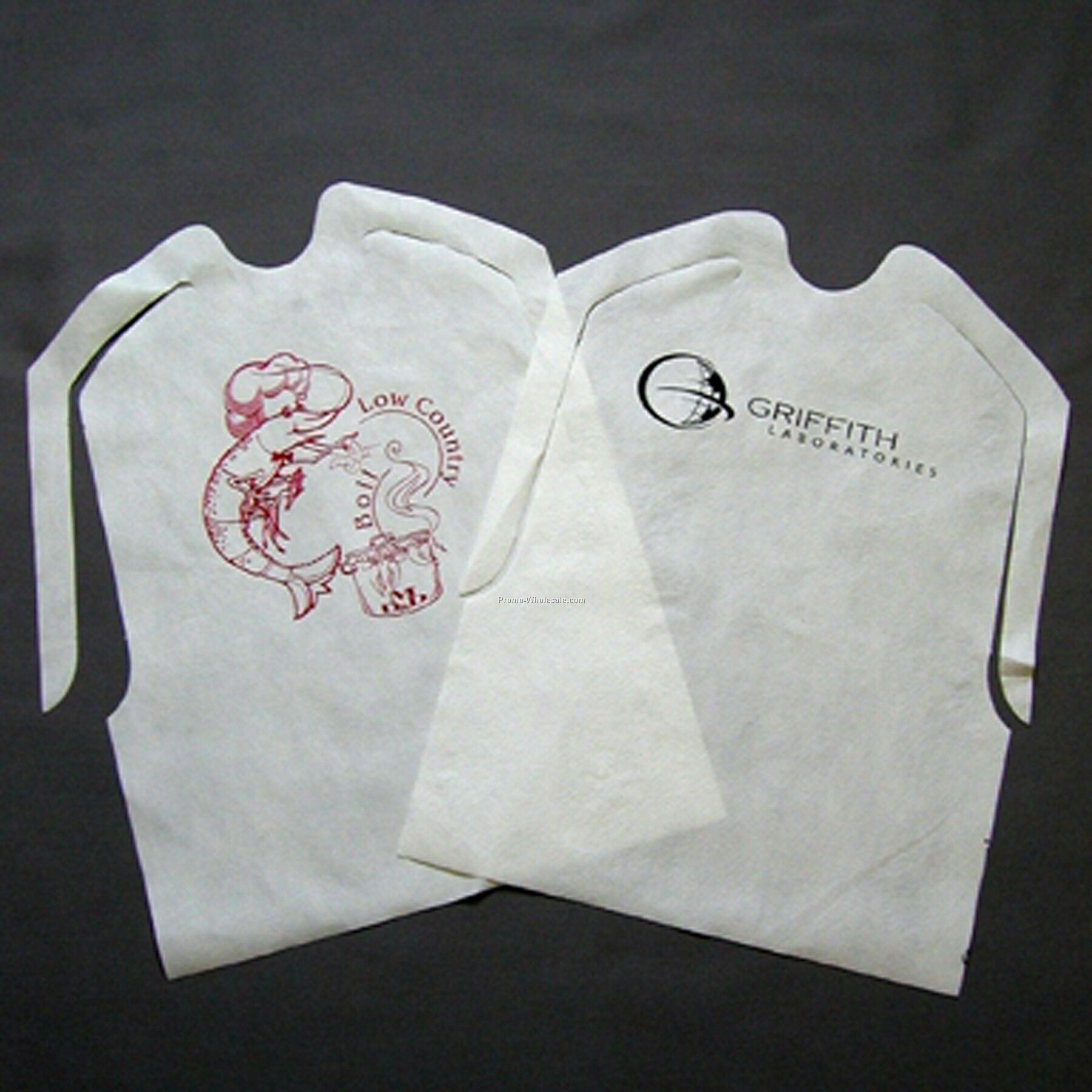 Custom Plastic Disposable Adult Bib Item No:PWC621367