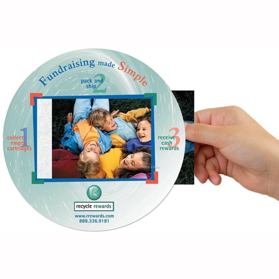 "Frame-it Flex Window / Photo Mouse Pad W/.015"" Barely There Base (8"" Round)"