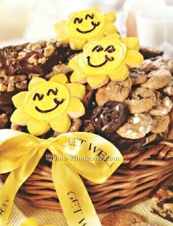 Get Well Sunshine Basket Cookies And Brownies