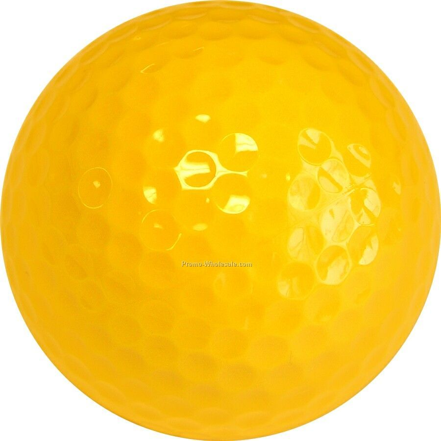 Golf Balls - Yellow - Custom Printed - 1 Color