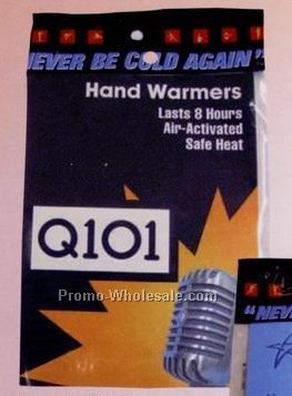 "Hand Warmer Pair W/ Custom Insert Card (6-1/4""x4-3/4"")"