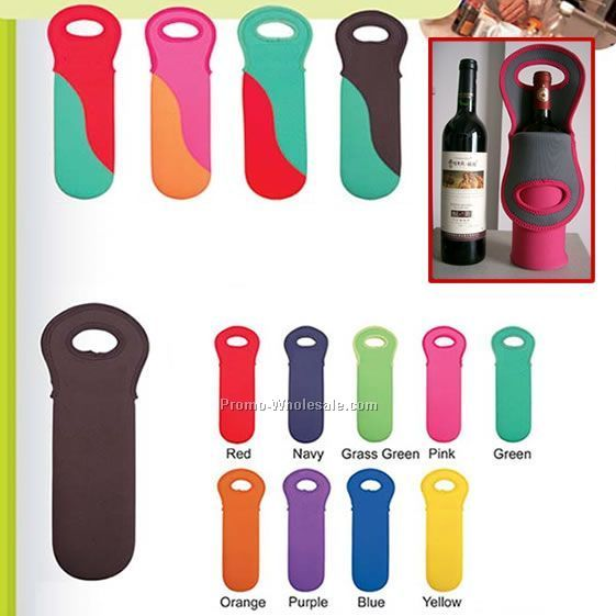 neoprene can holder wine bottle holder