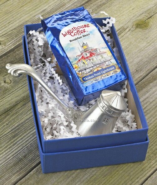 Lighthouse Coffee Scoop & Coffee Gift Set
