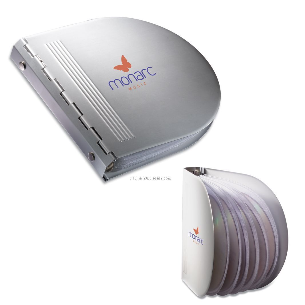 Matte Silver Aluminum CD Case W/12 CD Capacity