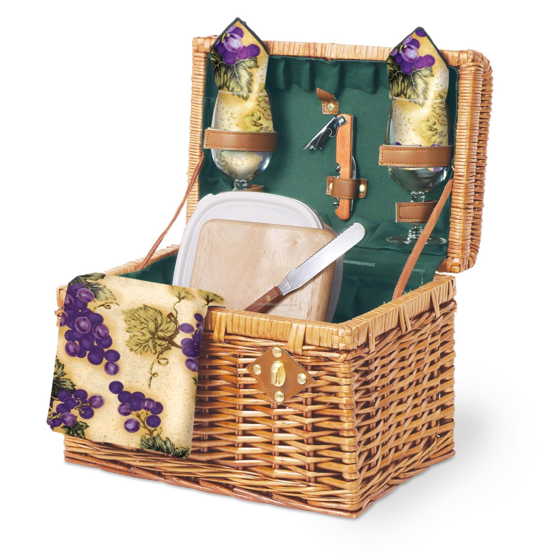 Windsor Picnic Basket For 4 : Windsor english style suitcase picnic basket with service