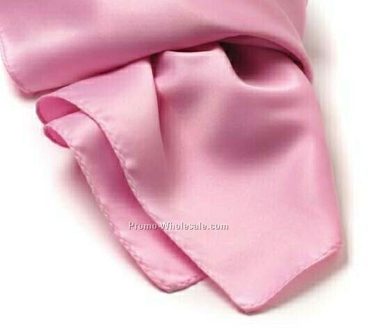 Pink Solid Series Polyester Scarf