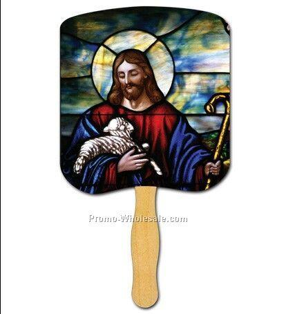 Religious Hand Fan/Jesus The Good Shepherd