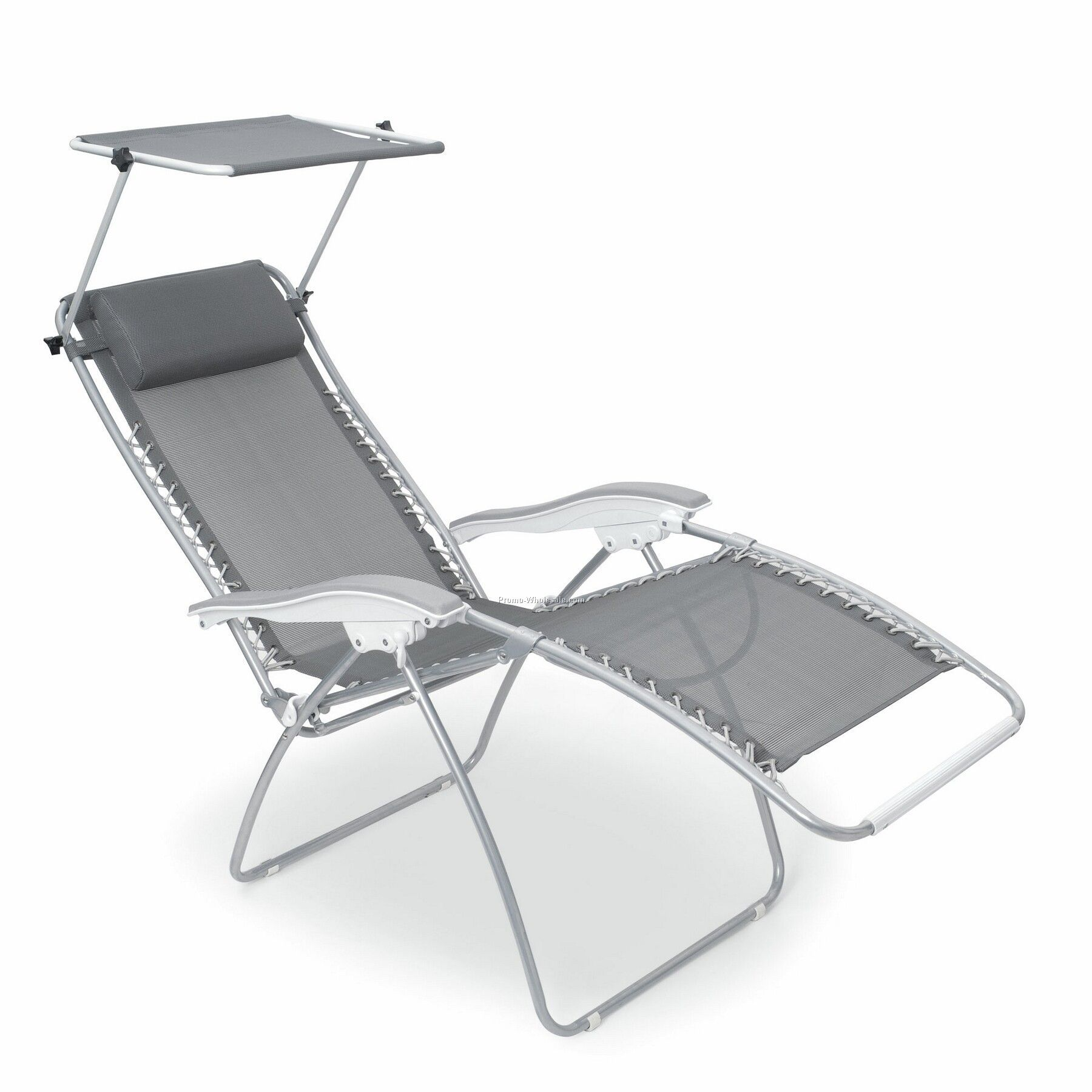 Beach lounge chair with canopy - Serenity Reclining Lounge Chair With Adjustable Sunshade