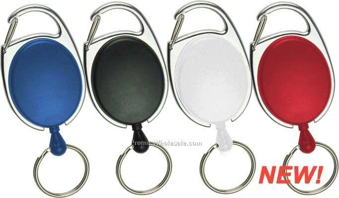 Solid Oval W/Carabineer Key Holder