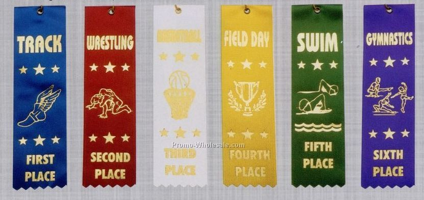 Stock Sports Ribbon (Pinked) - Swimming - Personal Best