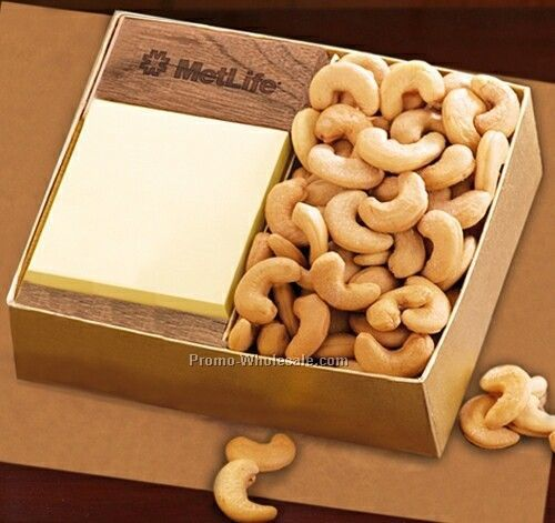Walnut Note Holder Note Holder/Extra Fancy Cashews