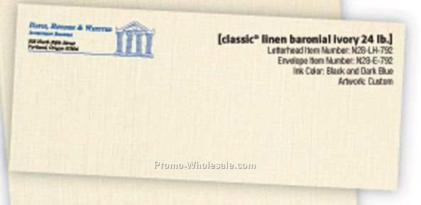 #10 Classic Crest Solar White Envelopes W/ 2 Multi Color Inks