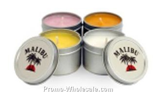 1 Oz. Soy Travel Candle - In Round Tin