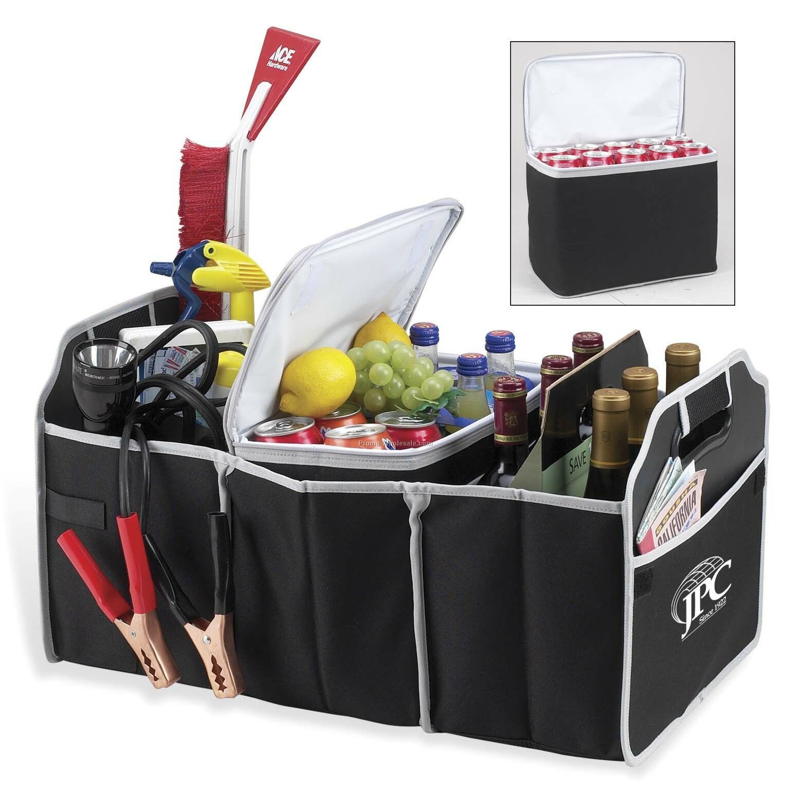 Combination Trunk Organizer And Cooler