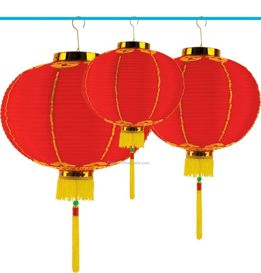 "16"" Good Luck Lanterns W/ Tassel"