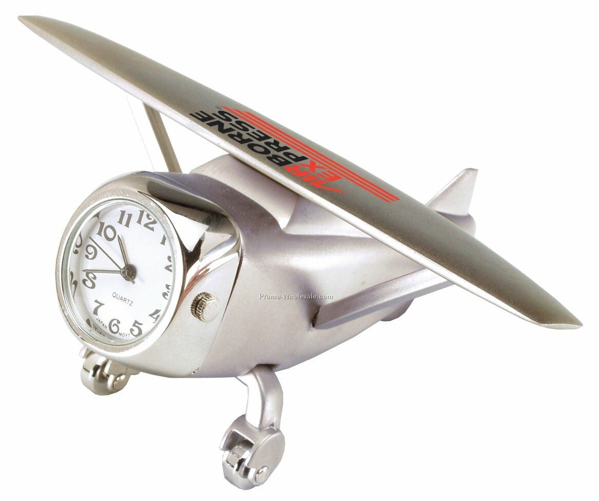 "3-3/4"" Die Cast Airplane Clock"