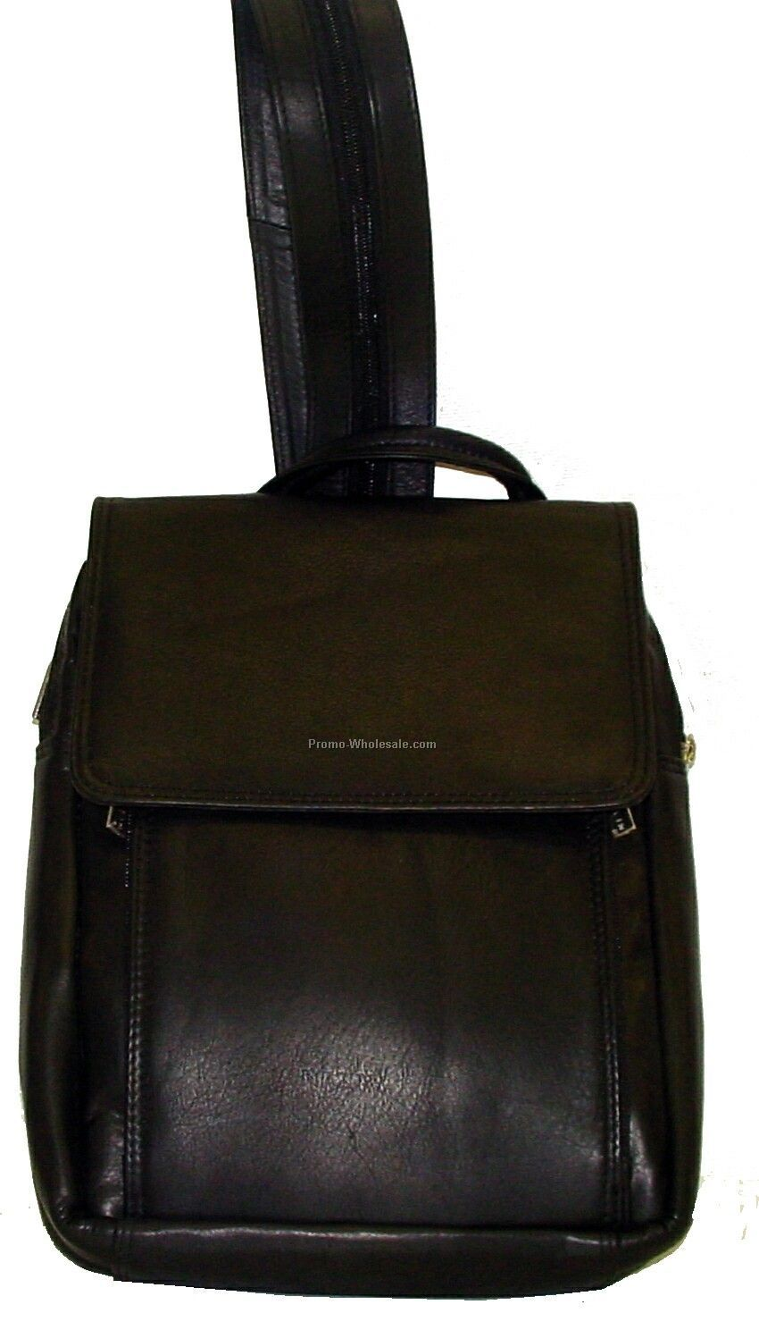 30cmx37cmx16cm Black Cowhide Annie's Day Pack Knapsack Backpack