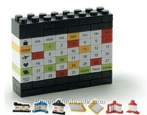 3cmx11-4/5cmx9-2/5cm Diy Puzzle Calendar (Black/ White)