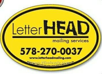 "4""x6"" Oval Magnetic Signs"