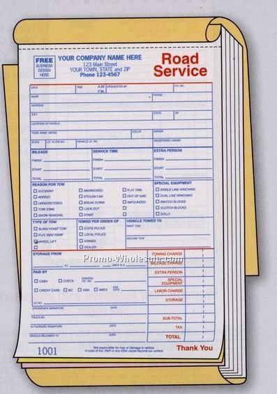 "x8-1/2"" 2 Part Road Service/ Towing Book"