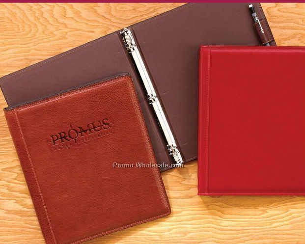 "8-1/2""x11"" Aniline Glazed Calfskin Ring Binder"