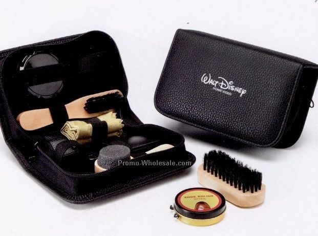 Deluxe Shoe Shine Kit ,8-in-one