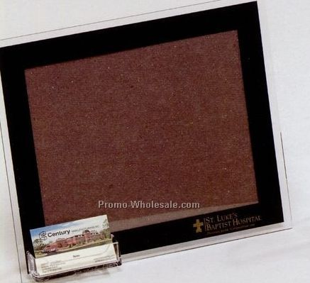 "Flat Acrylic Frame Plaque W/ Card Holder (8-1/2""x11"")"