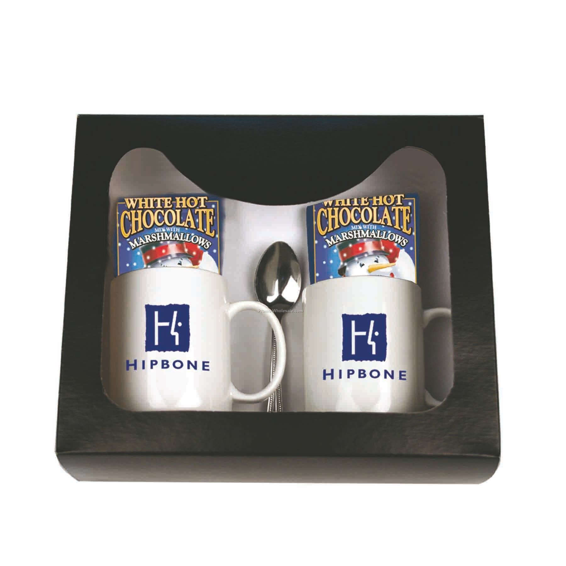 Hot chocolate for gourmet gift set white w