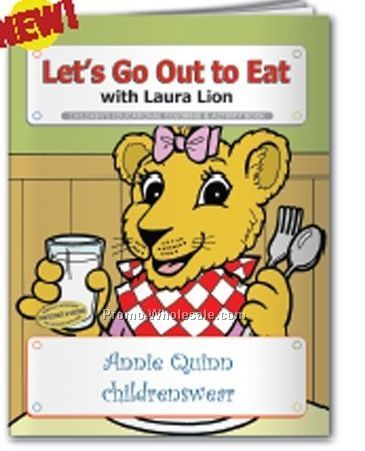 Let's Go Out To Eat With Laura Lion Coloring Book