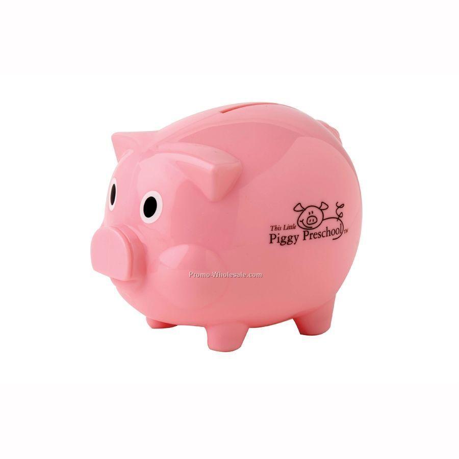 Piggy bank w bottom twist lock plug wholesale china for Large piggy bank with lock