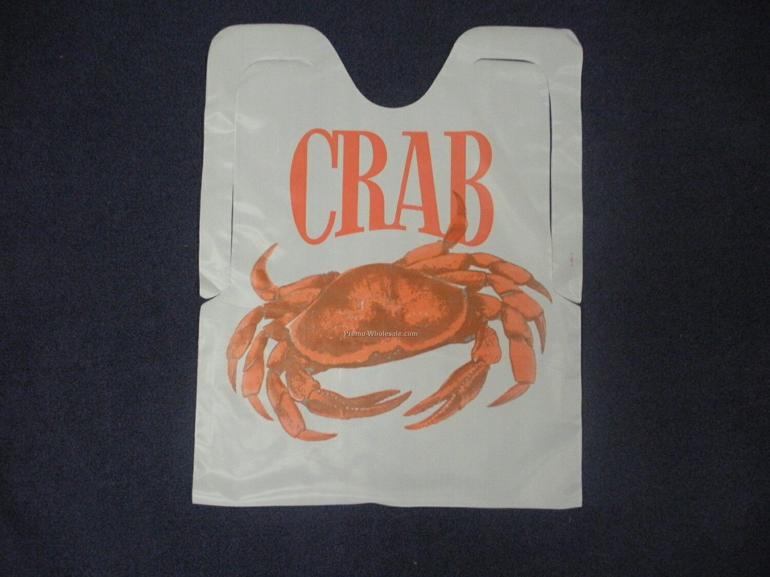 Plastic Disposable Adult Bib With Crab Logo