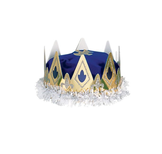Royal Queen Blue Crown (Full Head Fit)
