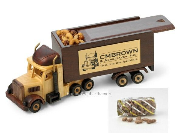 Semi Truck Nut Dispenser W/ Sliding Lid - Cinnamon Almond