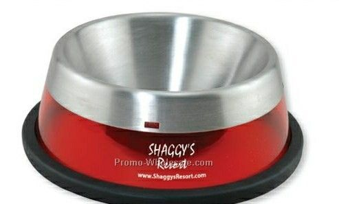 Small Stainless Steel Liner Pet Bowl