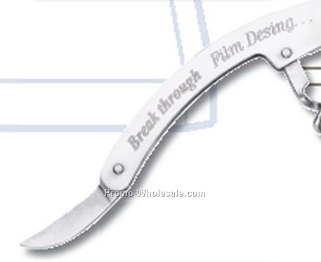 Stainless Steel Corkscrew/ Bottle Opener W/ Knife