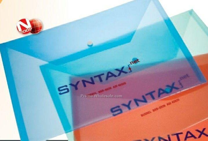 Translucent Flat Envelopes W/ Snap Closure - Pvc