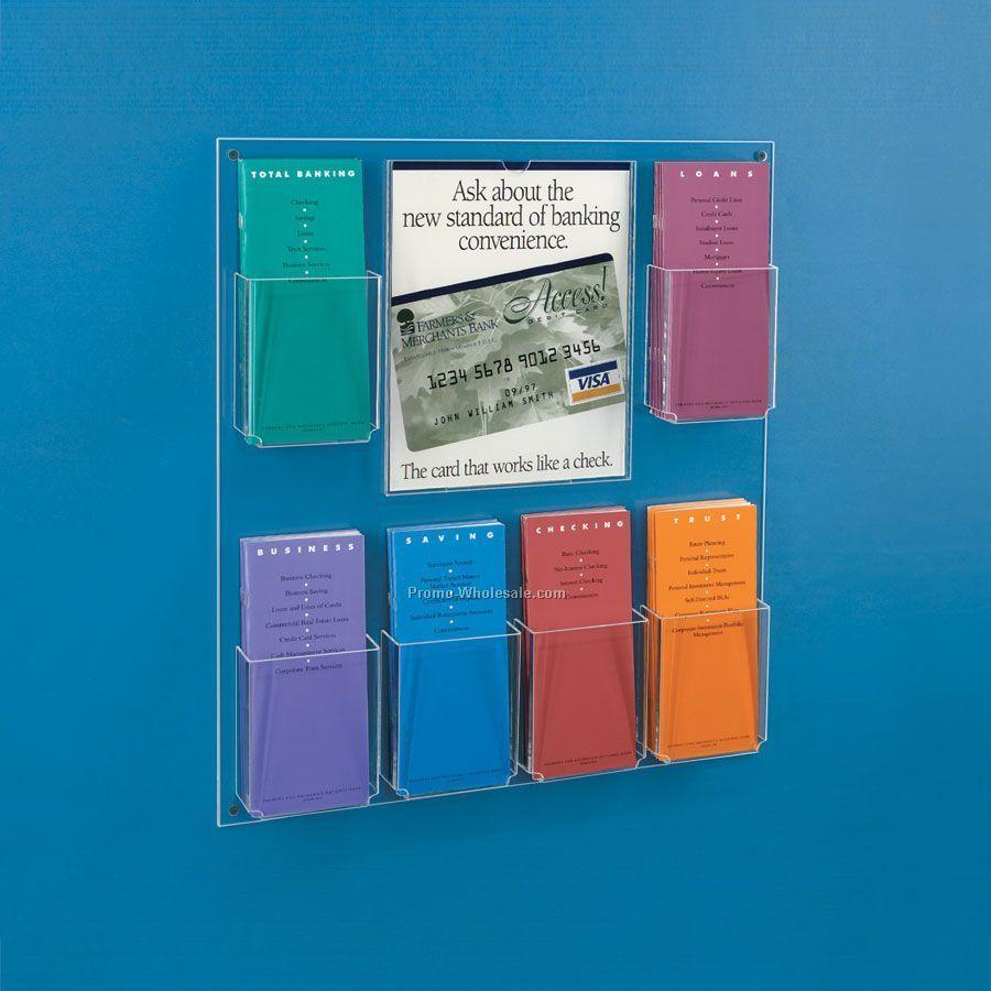 Wall Mounted Brochure Rack | Cymun Designs