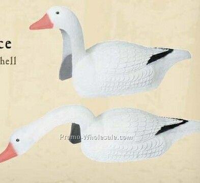 1 Piece Snow Goose Shell Decoy W/ Field Stakes