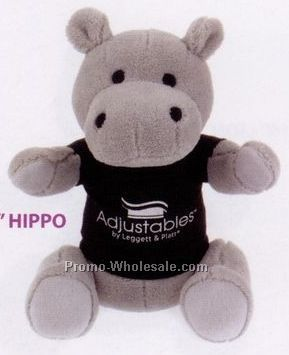 "10"" Extra Soft Stuffed Hippo"