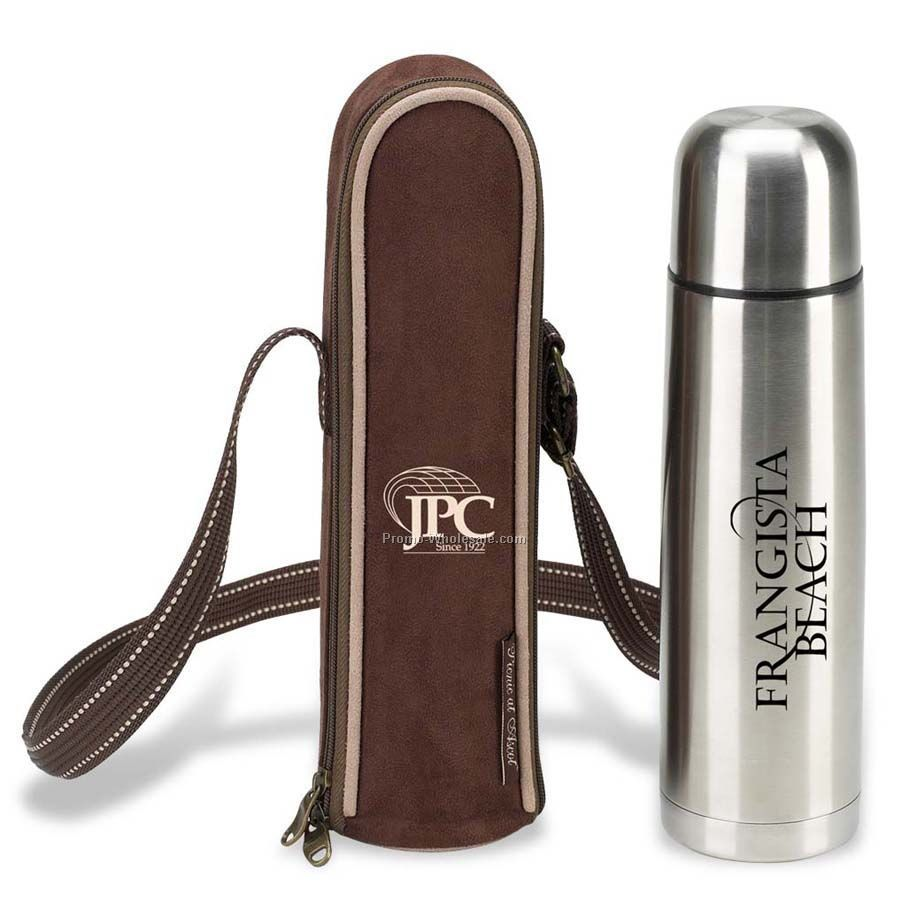 "10-3/4""x3-1/4"" Vacuum Flask And Carrier"