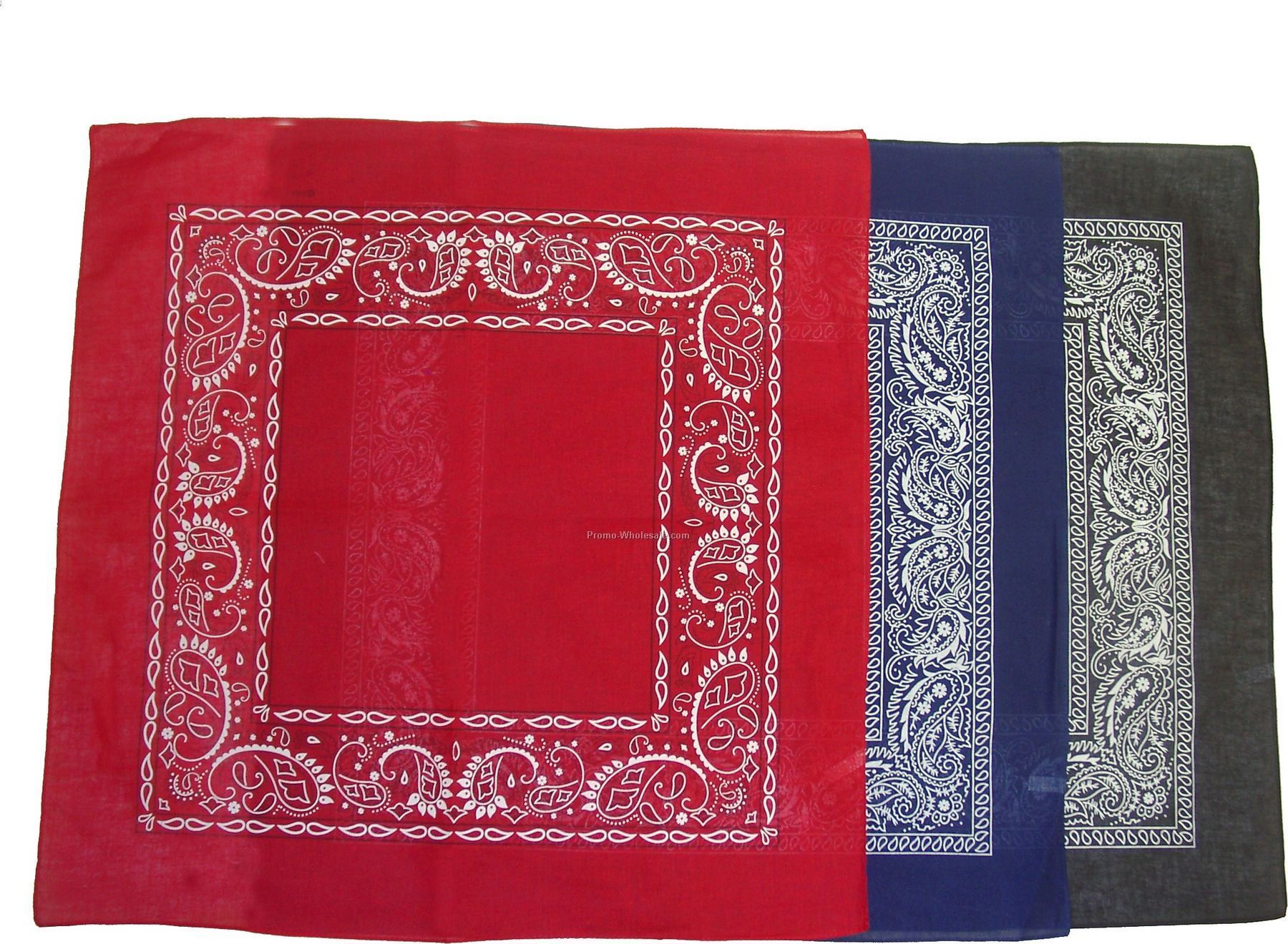 100% Cotton Open Center Paisley Bandanna