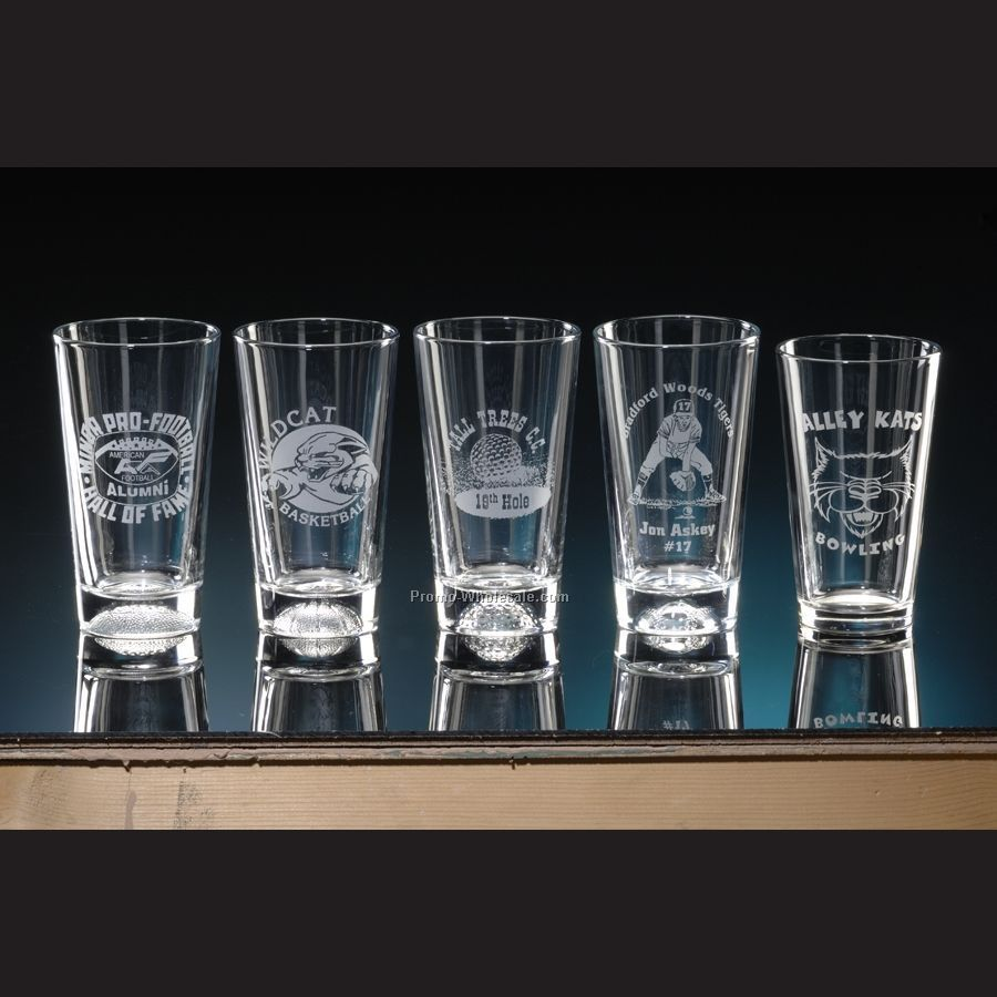 16 Oz. Football Pub Glass